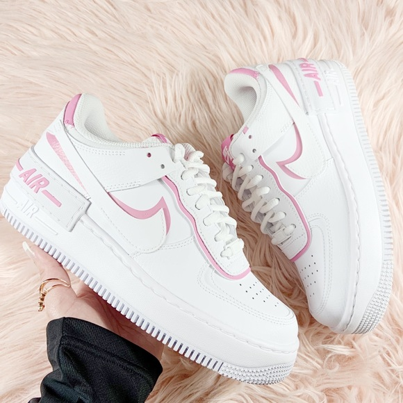 womens nike air force 1 pink and white